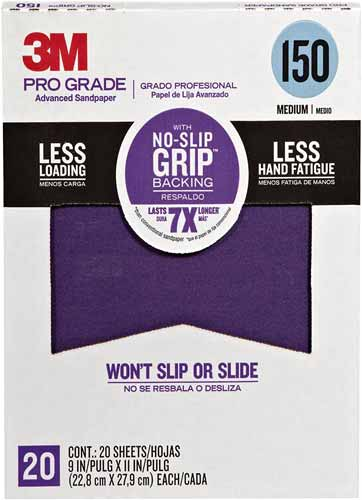 3M 26150CP-P-G Pro Grade No-Slip Grip Advanced Sandpaper